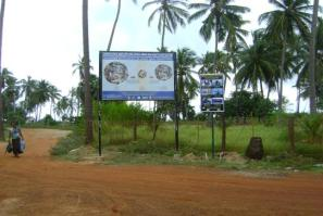 Awareness boards displayed in Kudawa Village. Photo: MCRCF