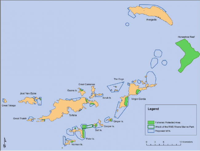Proposed MPA Network for the BVI.