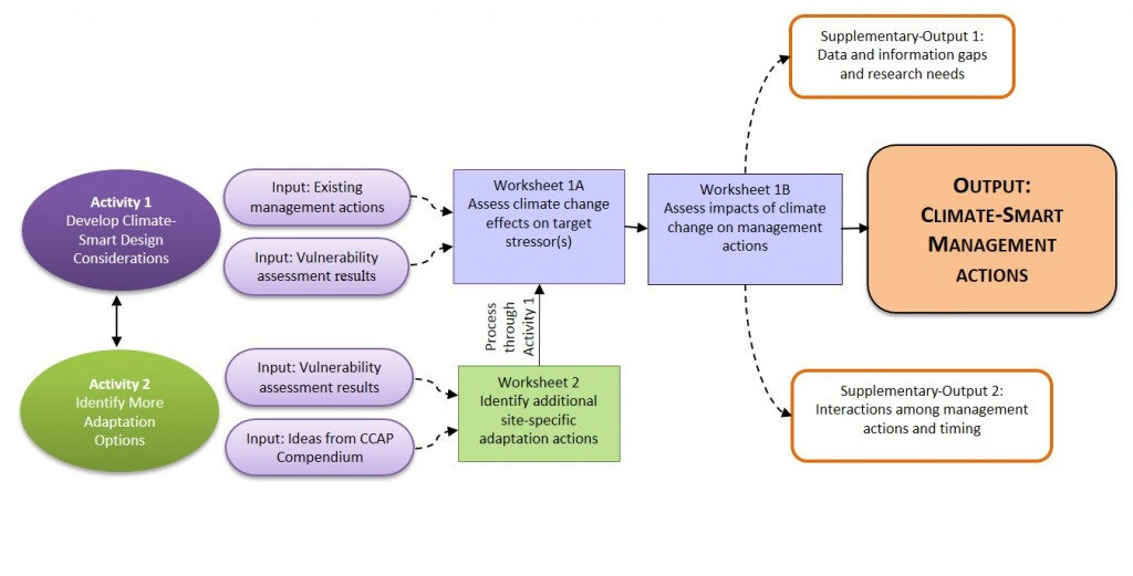 Figure 1. Flow chart of activities in the CCAP Adaptation Design Tool