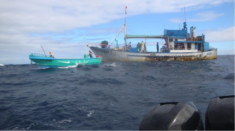 In 2009, WildAid helped implement a Satellite Vessel Monitoring System (SVMS) to track the exact position and speed of all large vessels traveling within the reserve on an hourly basis. In the first year, 32 vessels were apprehended using SVMS and the Rapid Response Patrol Fleet. © WildAid