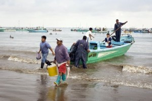 Pescador local ecuador