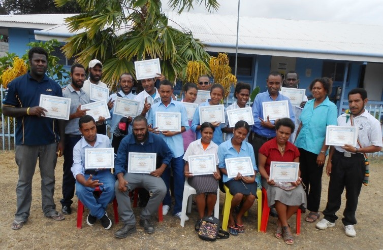 Madang Teacher's College MEEP Training graduates. Photo @ Adolphina Luvongit/MND