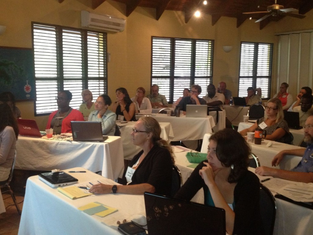 Participants in the USVI Climate Change Ecosystem-based Adaptation workshop. Photo © TNC