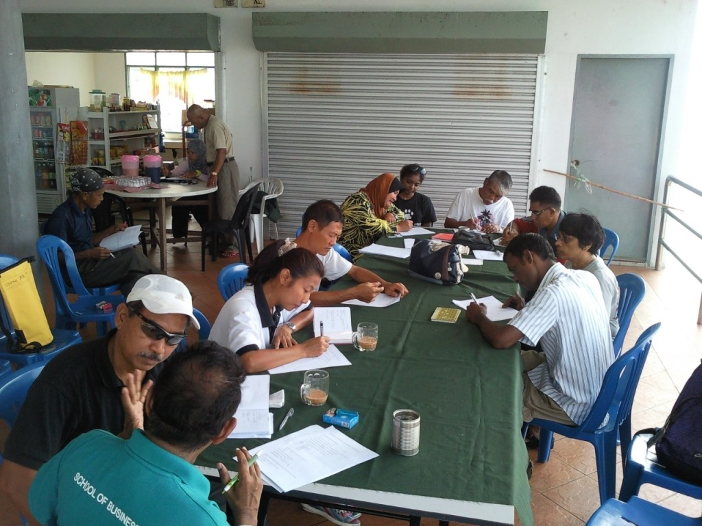 Reef Check Malaysia conducts annual surveys. Photo © Reef Check Malaysia