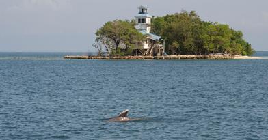 Port Honduras Marine Reserve Ranger Station. Photo © TIDE