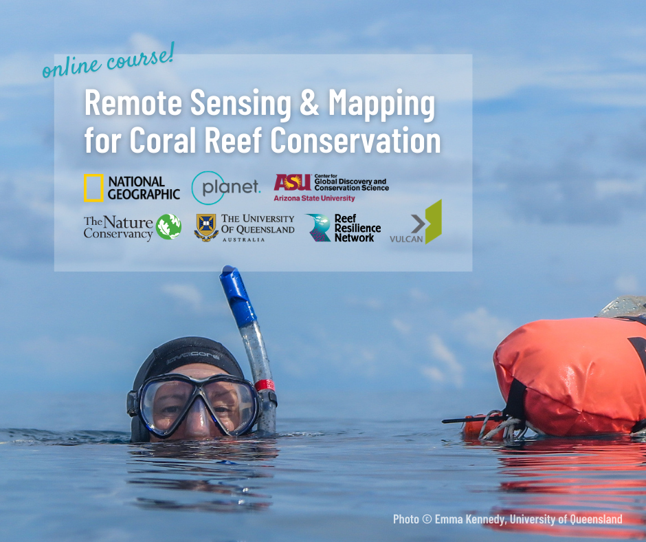 remote sensing and mapping for coral reef conservation online course